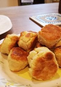 わらび餅粉とホットケーキmixでドーナツ