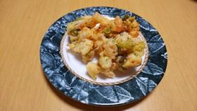 枝豆とれんこんのコロコロかき揚げ