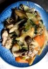 白菜と青梗菜のあんかけ焼そば