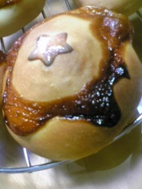卵アレルギーっ子の、お星様ハンバーグパン