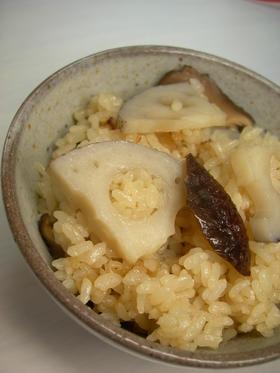 レンコンの炊き込みご飯☆
