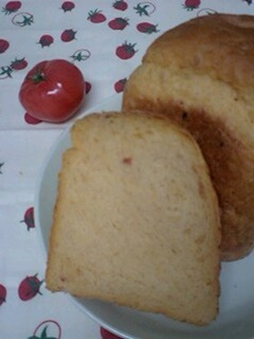 HBで♪ケチャップとベーコン食パン