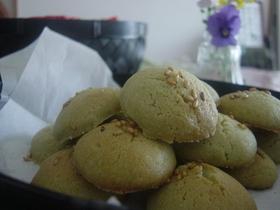 米粉とホットケーキmixで抹茶クッキー