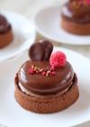 チョコとラズベリーのムースタルト