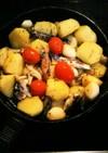 オイルサーディンとジャガイモのアヒージョ