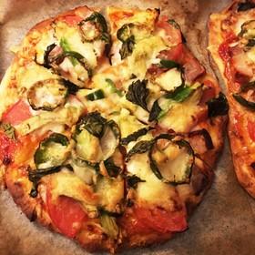 *手作りピザ生地で!焼きたてpizza*