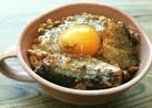 簡単♡さんま蒲焼き缶詰で納豆卵かけごはん