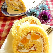 フワフワ♪素朴なロールケーキ♡