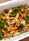 さっぱり♫豚こまと野菜の炒め物