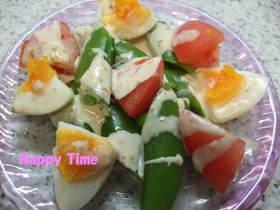 彩りきれいなスナップエンドウのサラダ☆