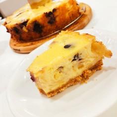 りんごとブルーベリーのチーズケーキ