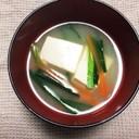 風邪予防☆ニラと豆腐のお味噌汁