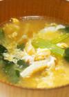小松菜と卵の味噌汁♪卵ふんわり♪