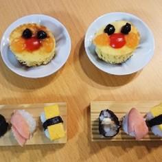 アンパンマンパンケーキと軟飯寿司