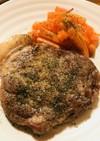 シンプル☆豚肩ロースブロックのステーキ