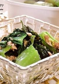 副菜に♪青梗菜とツナとわかめのナムル