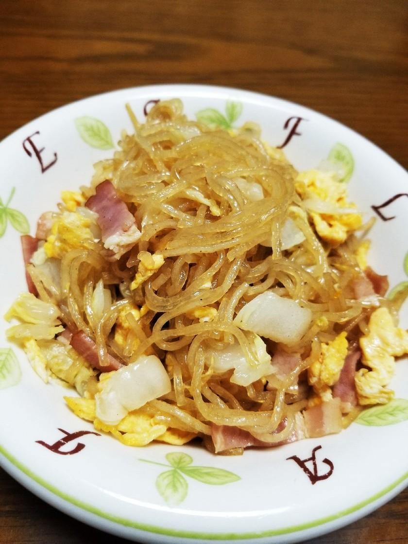 ☆白菜・ベーコン・卵の春雨炒め☆
