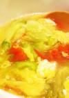 たっぷりレタスと卵のスープ