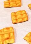 フライパンで玄米粉と発酵バターのワッフル