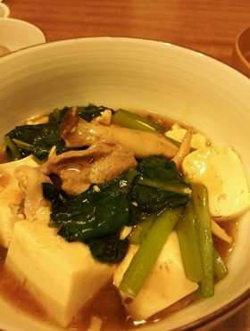 ★豚肉・小松菜・豆腐のとろみ蒸し★
