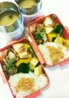 豚バラキノコ炒め弁当★味噌汁付き
