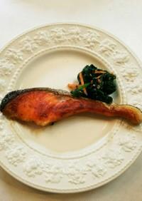 クックパーでふっくら鮭の塩焼き