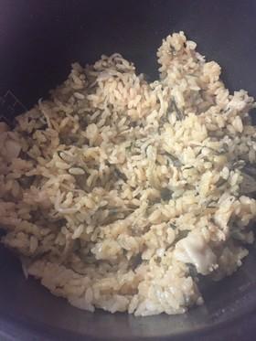 豚バラ高菜の炊き込みご飯