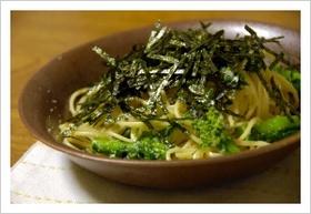 明太子と菜の花のスパゲッティ