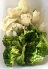 レンジで温野菜★ブロッコリーカリフラワー