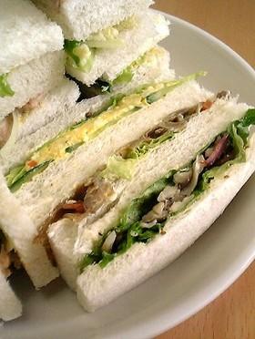 キンピラの和風サンドイッチ