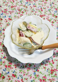 りんごサラダ~懐かしい給食の味♪