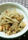 菊芋と大豆の煮物(きんぴら風)