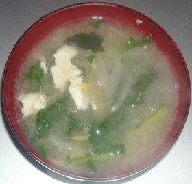 玉葱&卵&小松菜のみそ汁