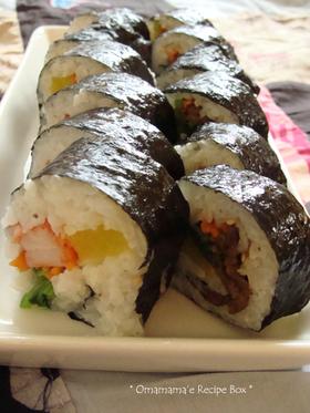 キムパ2種*韓国風海苔巻き