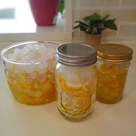 柚子の保存方法 氷砂糖はちみつ漬け