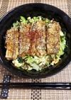 太刀魚はんぺんバーグのゴマ照り焼き丼