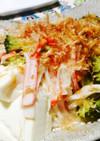 豆腐とブロッコリーカニカマのさっと煮