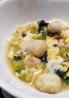 丸ふと小松菜の卵とじ