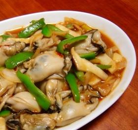 かきの中華風ケチャップ炒め