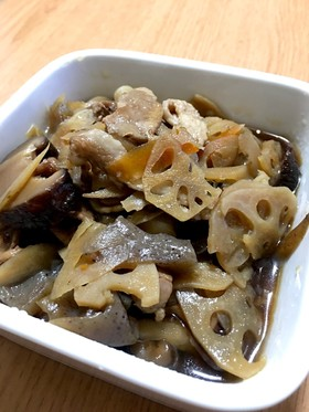 根菜類の煮物 筑前煮風です