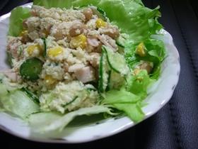 おからとお豆の健康サラダ