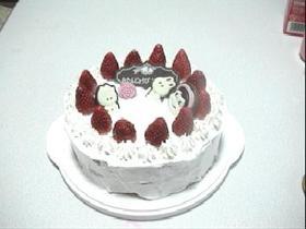 いちごのお誕生日ケーキ