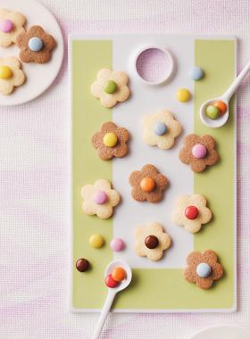 チョコお花クッキー