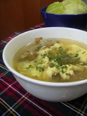 キャベツとザーサイのベトナム風スープ