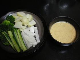 温野菜納豆ソースがけ