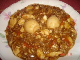 うずらの卵麻婆豆腐