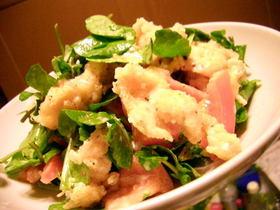 カリカリチキンとクレソンのサラダ