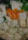 鶏団子&水餃子の野菜たっぷり鍋
