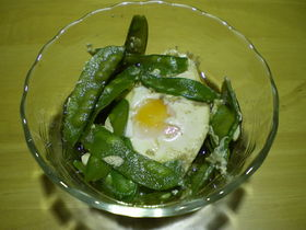 さやえんどうと卵の煮物