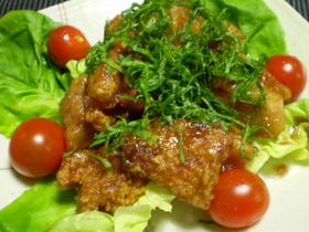 鶏の唐揚げ 梅肉ソースで